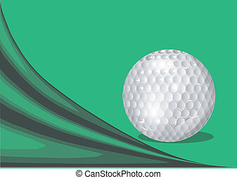 green background with a golf ball