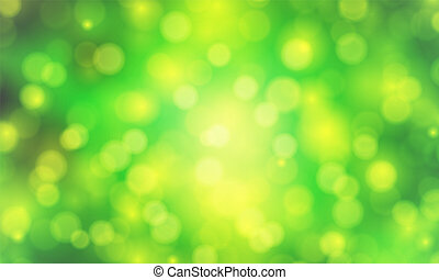 green background with blurry bokeh