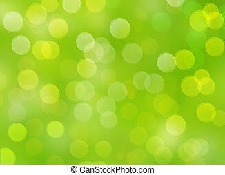 Green background with bokeh defocus