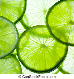 citrus-fruit of lime slices