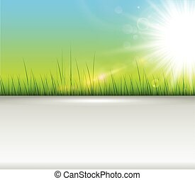 Green background with copy space