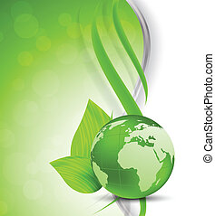 Green background with globe