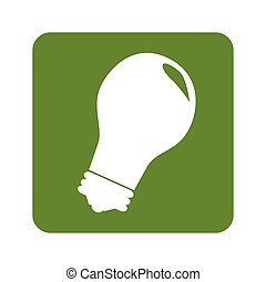 green background with light bulb