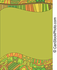 Green background with pattern borde