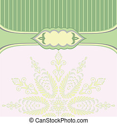 Green background with pattern