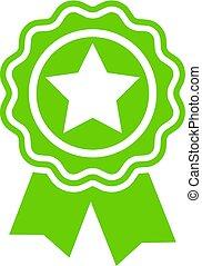 Green badge icon