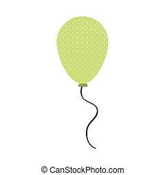 green balloon party