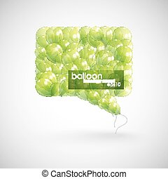 green balloon speech bubble
