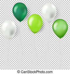 Green Balloons Isolated Transparent Background