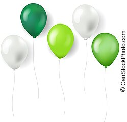 Green Balloons Isolated