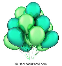 Green balloons, party birthday carnival decoration