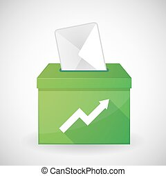 Green ballot box with a graph