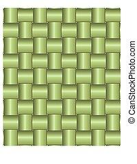 Green bamboo pattern.