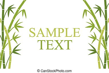 green bamboo stems background