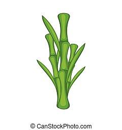Green Bamboo Stem Icon Cartoon Green Bamboo Stem Icon In Cartoon