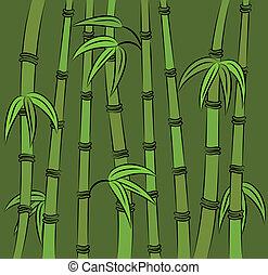 Green bamboo. Vector illustration
