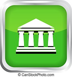 green bank icon on a white
