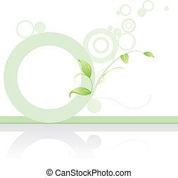 green banner background