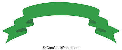 green banner - drawing of green banner in a white background