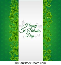 Green Banner With Clovers