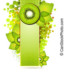 Green banner with kiwi slices