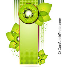 Green banner with kiwi