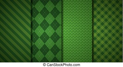 green banners checkered texture