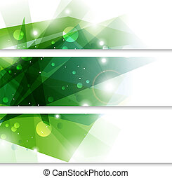Green banners