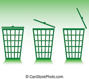 green basket illustration