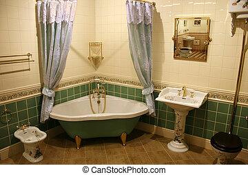 green bathroom 2