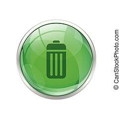 Green battery button