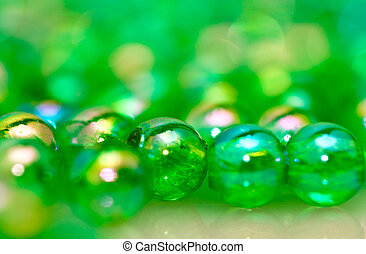 Green Beads Background IV