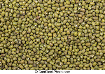 Green bean or mung bean background. Agriculture product, ...