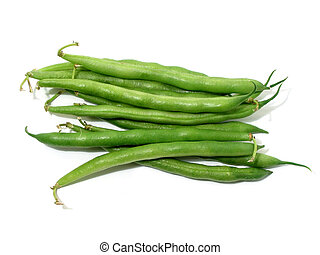Green beans on white - Green beans isolated on white...
