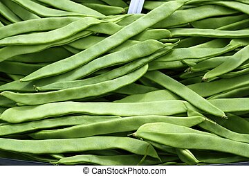 green beans vegetable texture in Spain market