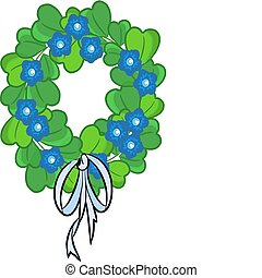 Green beauty chaplet - Vector - Ecology chaplet beauty green...