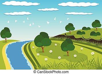 Green beauty landscape