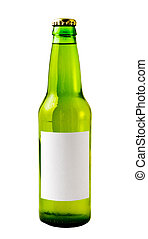 Green Beer Bottle - A close up on a green beer bottle...