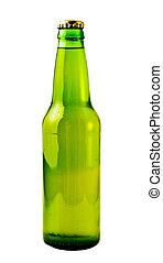 Green Beer Bottle - A close up on a green beer bottle...