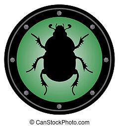 Green beetle circle - Creative design of green beetle circle