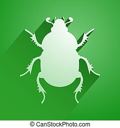 green beetle icon