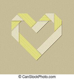 green-beige, papercraft, återvinn