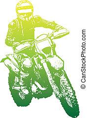 biker - green biker