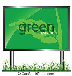 green bilboard illustration