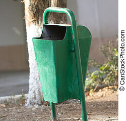 green bin in the park