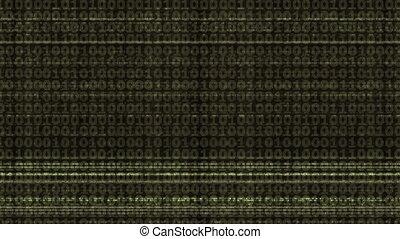 Green Binary Code - Abstract binary code of green color...