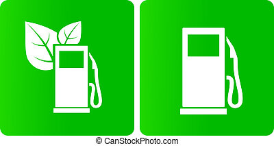 green bio gas station icons
