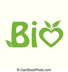 green bio icon for healthy food