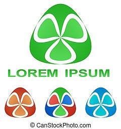 Green biotechnology symbol design set