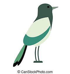 green bird flat illustration